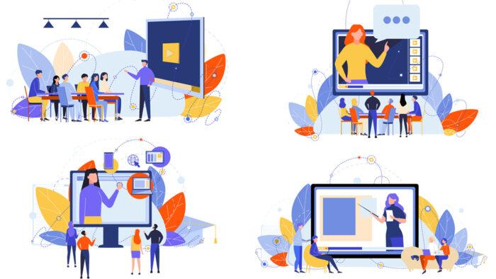 4つのオンライン授業風景